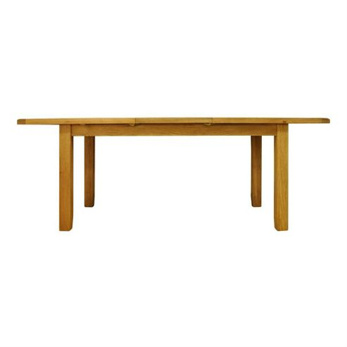 Cambridge Petite Rustic Oak 1.6m Medium Extending Dining Table