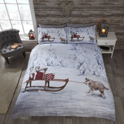Rapport Huskies Christmas Duvet Cover Set - Single