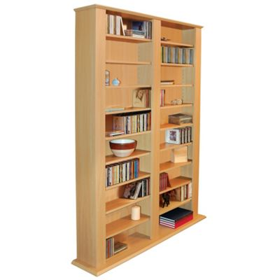 Techstyle Multimedia CD / DVD Storage Shelves - Beech