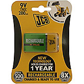 1 x JCB Pre-Charged 9V Batteries 200MAH Rechargeable High Capacity Ready To Use