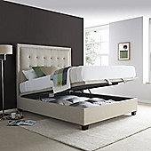 Happy Beds Metro Fabric Ottoman Storage Bed - Beige