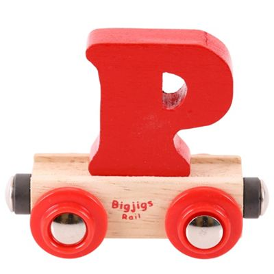 Bigjigs Rail Rail Name Letter P (Red)