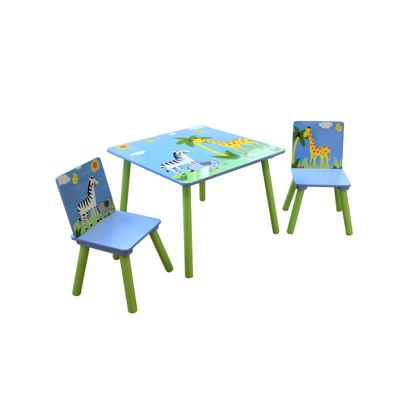 Liberty House Safari Square Table & 2 Chairs Set