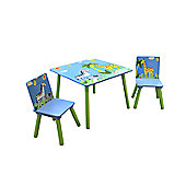Liberty House Safari Square Table & 2 Chairs Set