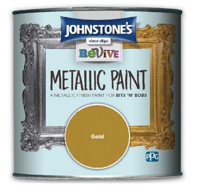 Johnstones Revive Metallic Furniture Paint - Gold - 375ml