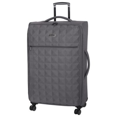 Buy IT Luggage Megalite Quilted 8 wheel Grey Large Suitcase from ...