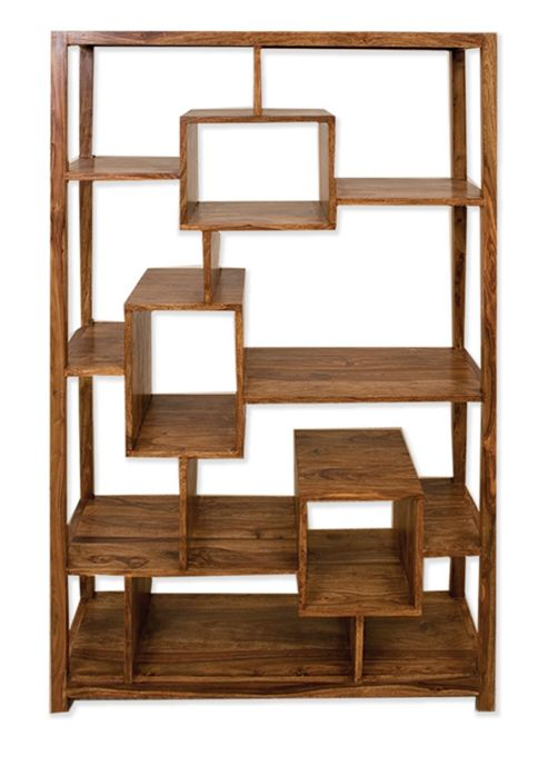 Elements Cubex Living Geometric Bookcase in Warm Lacquer