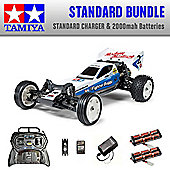 TAMIYA Neo Fighter 2WD Buggy RC Car Standard Bundle 2x Batteries 58587