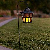Shepherd's Crook Battery LED Candle Lantern Stake Light