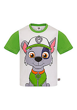 PAW Patrol Boys Kids Character T-Shirt Rocky Chase Rubble - Green