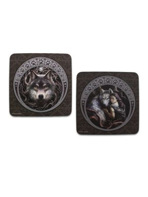Anne Stokes Wolf Coasters - Set Of 2