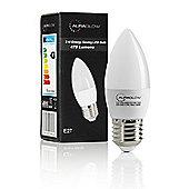 AURAGLOW 5w LED E27 Candle Light Bulb, Cool White - 40w EQV