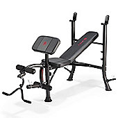 Marcy Eclipse BE1000 Barbell Weight Bench with Arm Curl Pad & Leg Developer