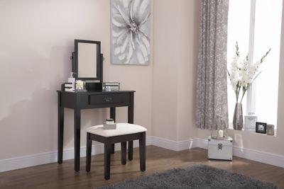 Shaker Dressing Table & Stool Set Black