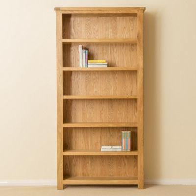 Roseland Oak Bookcase - Large Bookcase - Waxed Oak