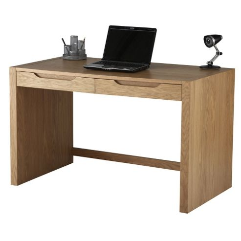 Alphason Oak Desk with Stationery Drawers