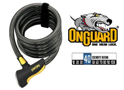 Onguard Doberman 8028 Coil Cable Lock 185cm X 12mm