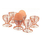 Apollo Egg Cups, Easy Clean Copper Finish, Set of 6