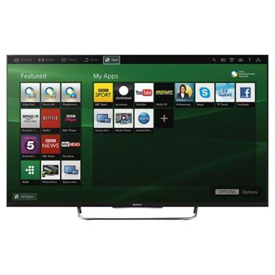 Sony KDL50W829BBU 50 Inch 3D Smart WiFi Built In Full HD 1080p LED TV with Freeview HD