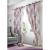 Alan Symonds Tokyo Eyelet Curtains - Purple