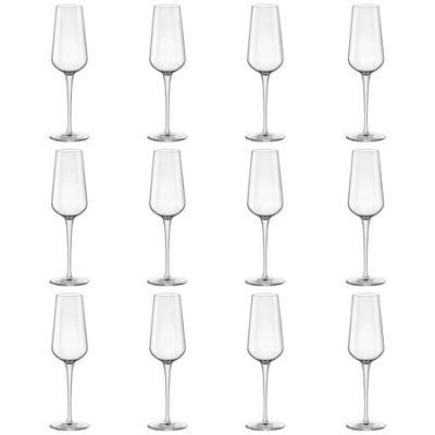 Bormioli Rocco Inalto Uno Champagne Flute - 285ml - Pack of 12 Drinking Glasses
