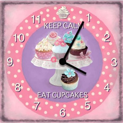 Original Signs - Keep Calm Eat Cupcakes Clock