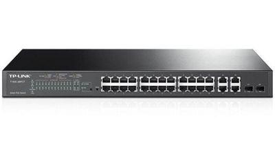 TP-Link T1500-28PCT 24-Port 10/100Mbps + 4-Port Gigabit Smart PoE+ Switch