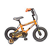 "Concept Energy 14"" Wheel Kids Bike Single Speed Stabilisers Orange"