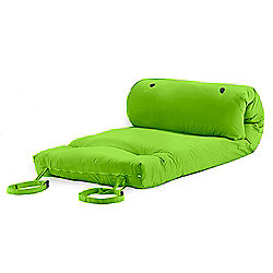 Lime Green Cotton Twill 'Brooklyn' Roll Up Camping Futon Mattress