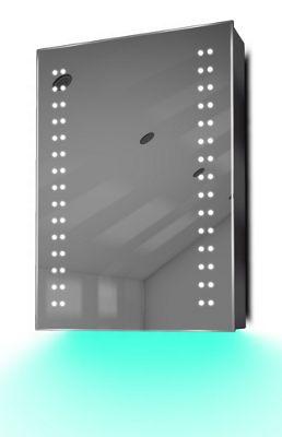 Demist Cabinet With LED Under Lighting, Sensor & Internal Shaver Socket k352t