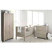 East Coast Fontana Room Set - Cot Bed, Dresser, Wardrobe and Sprung Mattress