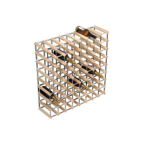George Wilkinson 72 Bottle Wine rack Kit - Stained Pine / Galvanised Steel