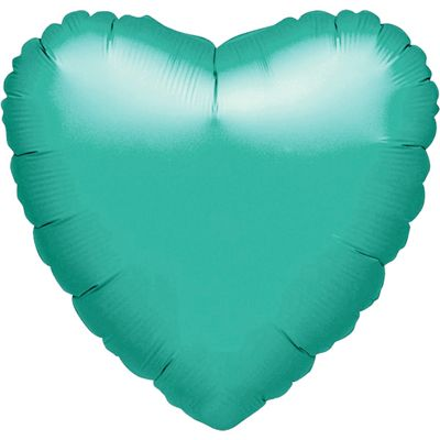 Teal Heart Balloon - 18 inch Foil