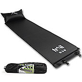 Trail Self-Inflating Camping Mat With Pillow - Black