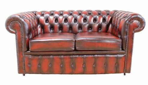 Buy Chesterfield 2 Seater Oxblood Leather Sofa From Our