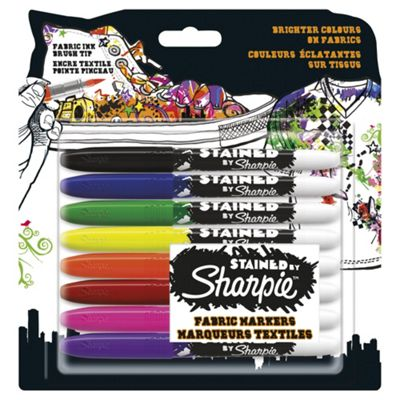 Sharpie Fabric Markers Asstd 8 pack