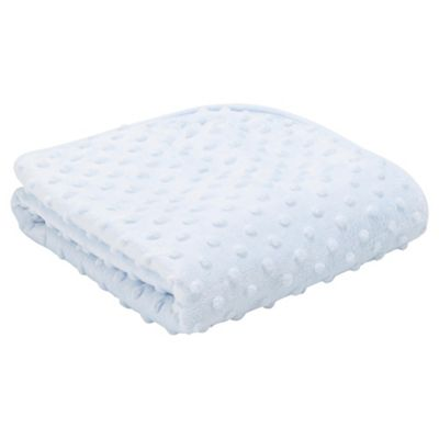 Tesco Popcorn blanket blue