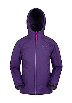 Mountain Warehouse Girls Jacket with Taped Seams and Waterproof Membrane - Purple