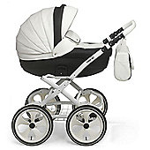 Mee-Go Milano Classic Chassis Pushchair-Mono (White Chassis)