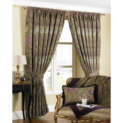 Riva Home Berkshire Hyacinth Pencil Pleat Curtains - 66x72 Inches (168x183cm)