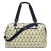 Pink Lining Bridget Holdall Changing Bag (Navy & Cream Boats)