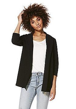 F&F Textured Crepe Formal Jacket - Black