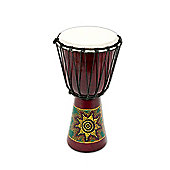 Percussion Plus Painted Wood Djembe