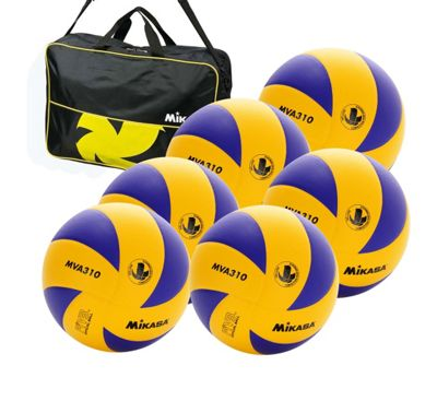 Mikasa MVA 310 6 Ball Volleyballs and bag