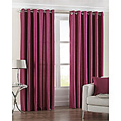 Riva Home Fiji Faux Silk Eyelet Curtains - Fuchsia