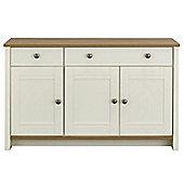 Geneva Large Sideboard - Ivory & Oak Effect