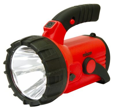 Rolson 3 Watts Red Rechargable Spotlight