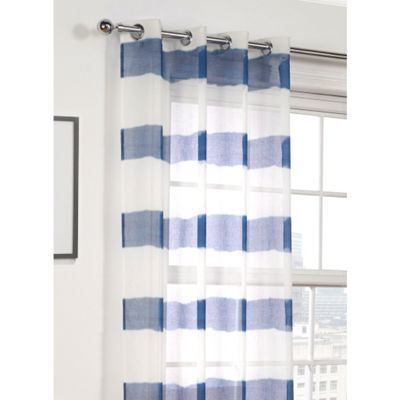 Hamilton McBride Miami Blue Voile Eyelet Panel - 55x72 Inches (140x183cm)