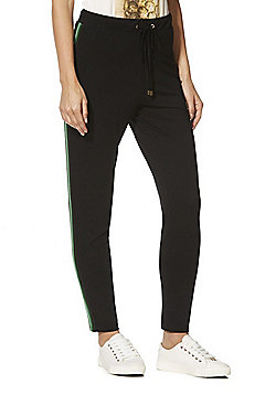 F&F Side Stripe Trousers - Black