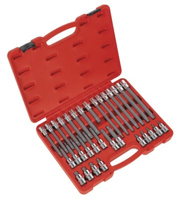 Sealey AK2198 - Ribe Socket Bit Set 32pc 1/2inchSq Drive